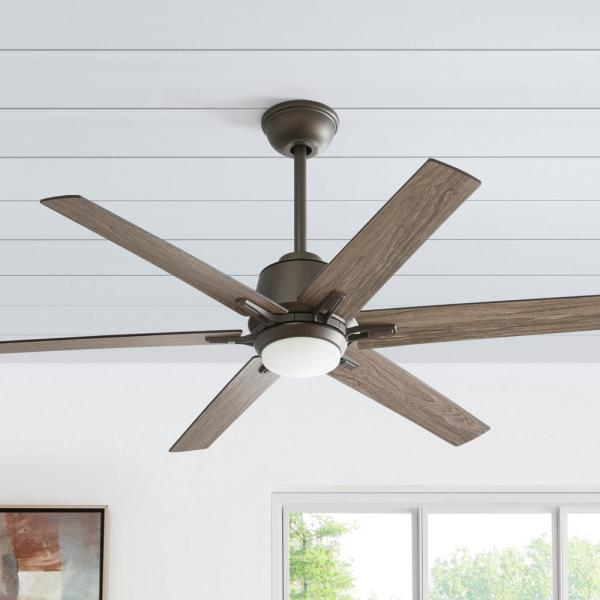 Home Decorators Collection Kensgrove 54 In Integrated Led Indoor Espresso Bronze Ceiling Fan With Light Kit And Remote Control Yg493a Eb The Home Depot