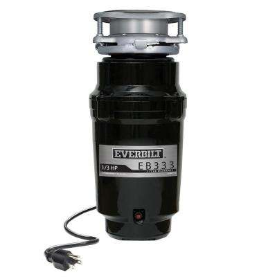 1/3 HP Continuous Feed Garbage Disposal with Attached Power Cord