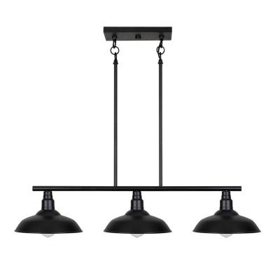 Dale 3-Light Black Island Pendant