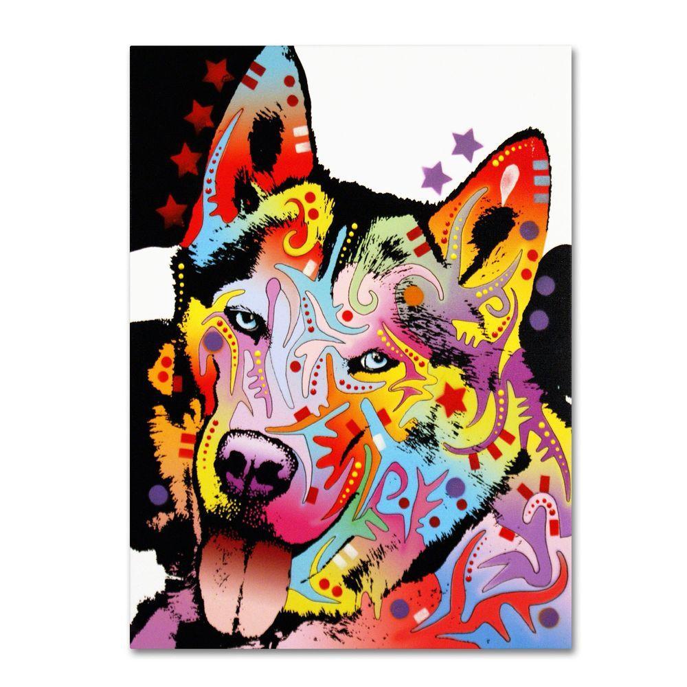 Trademark Fine Art 14 in. x 19 in. Siberian Husky Canvas Art