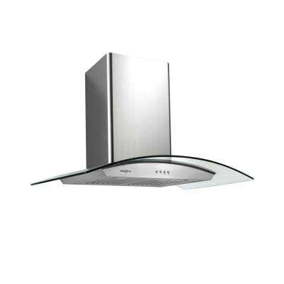 Tornado III 36 in. Wall-Mounted Convertible Range Hood in Stainless Steel
