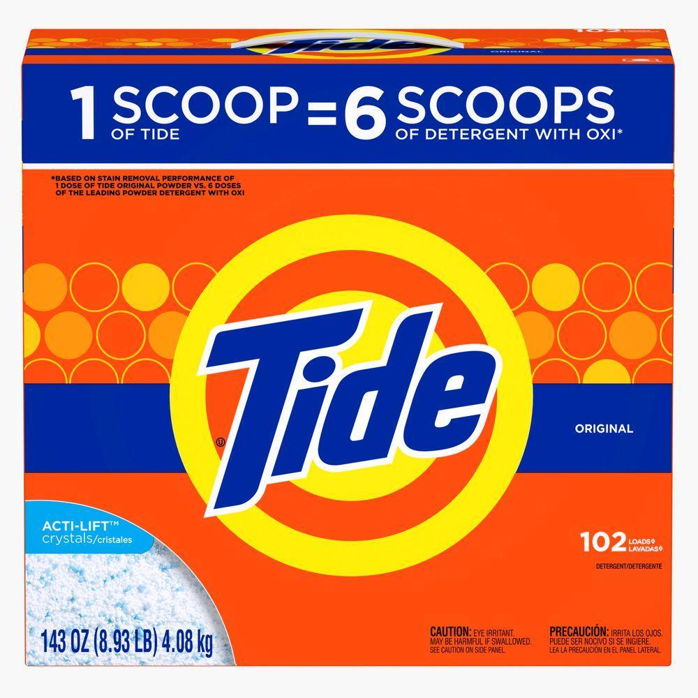 Tide 143 oz. Original Scent Powder Laundry Detergent (102 Loads)