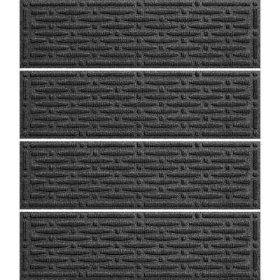 Charcoal 8.5 in. x 30 in. Mesh Stair Tread Cover (Set of 4)