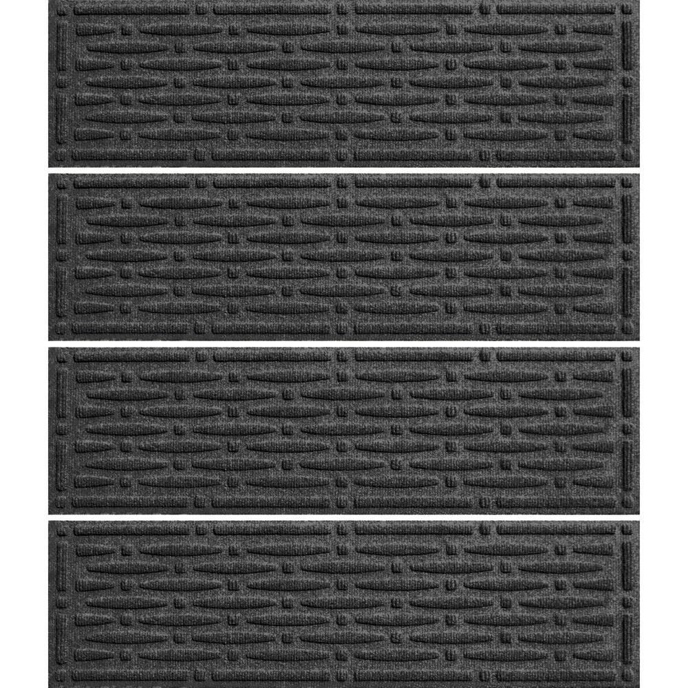 Charcoal 8.5 in. x 30 in. Mesh Stair Tread (Set of