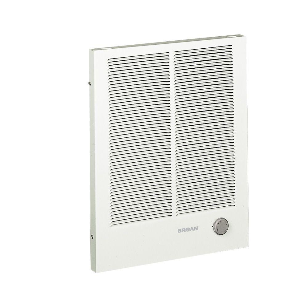 Broan 16-13/32 in. x 20-19/64 in. 3,000-Watt High-Capacity Wall Heater in White