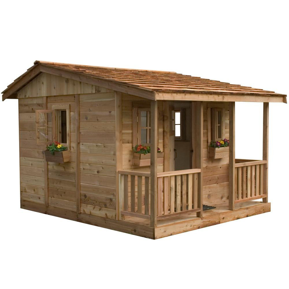 Home Depot Playhouses : Outdoor living today ft cozy cabin playhouse