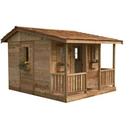 9 ft. x 7 ft. Cozy Cabin Playhouse