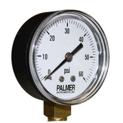 2.5 in. Dial 60 psi Painted Steel Case Utility Gauge
