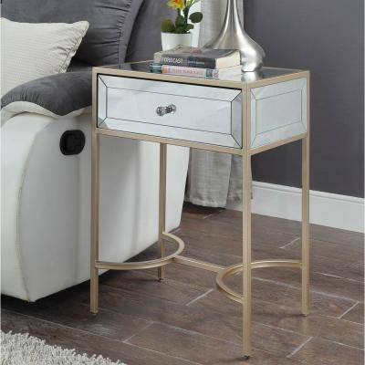 Wisteria Mirrored with Rose Gold End Table