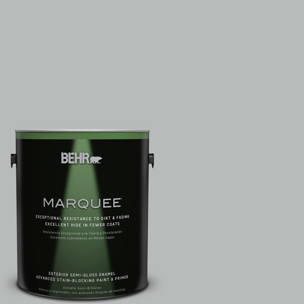 1 gal. #T18-19 Quiet Time Semi-Gloss Enamel Exterior Paint