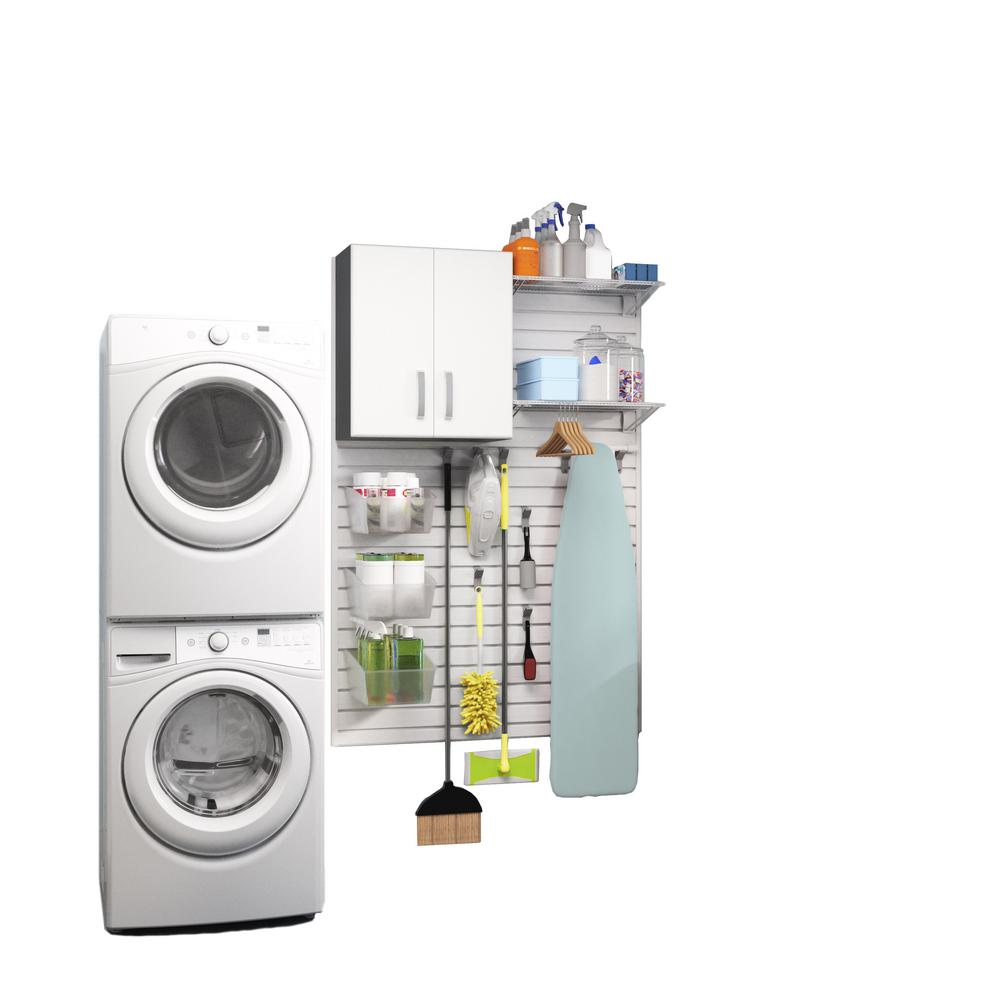 Flow Wall Modular Laundry Room Storage Set with Accessori...