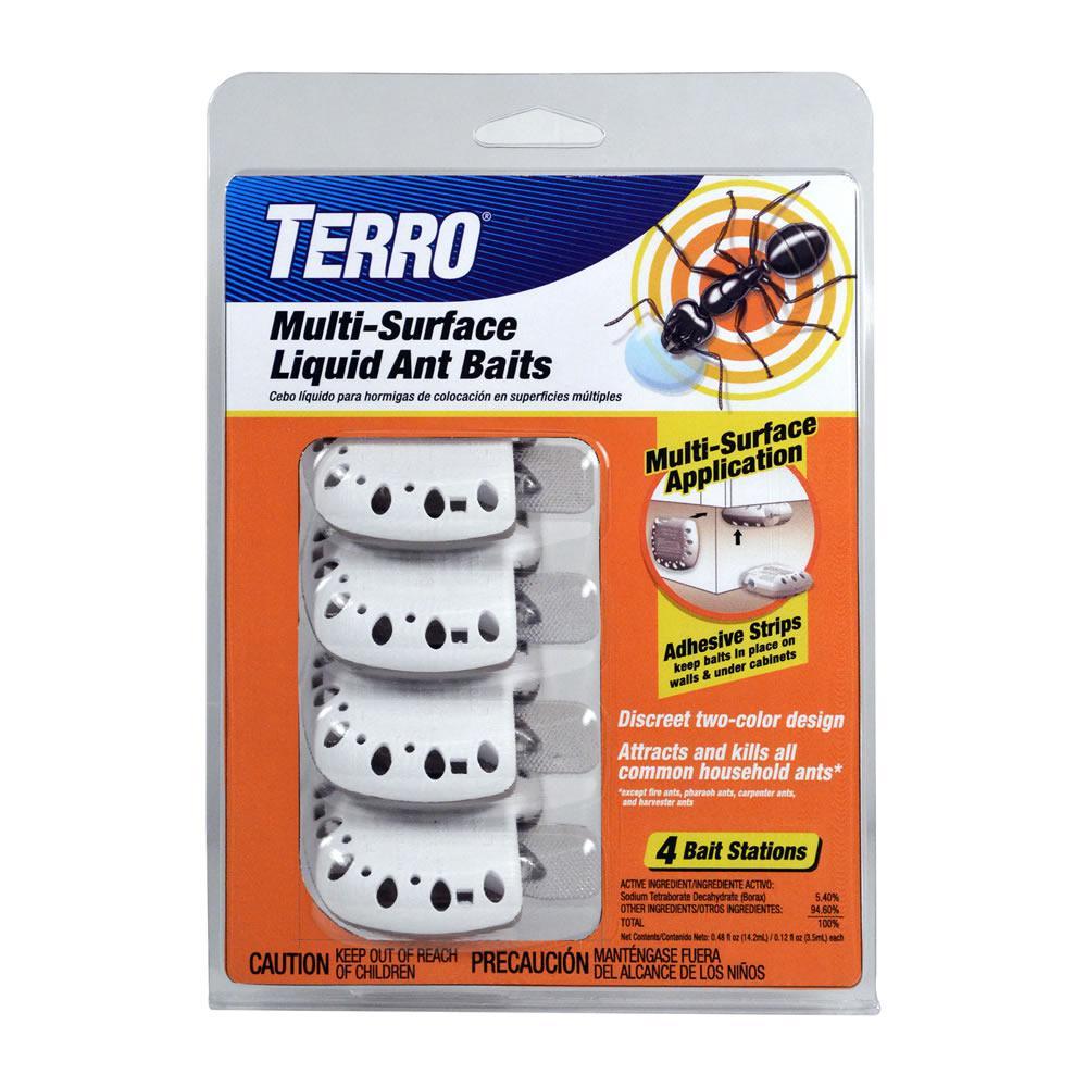 Terro Indoor Multi Surface Liquid Ant Killer Baits 4 Count T334 The Home Depot