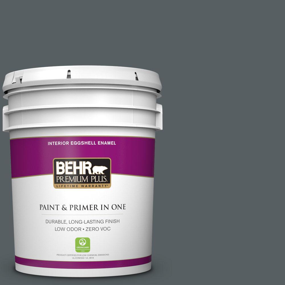 BEHR Premium Plus 5 gal. #720F-6 Paramount Zero VOC Eggshell Enamel Interior Paint