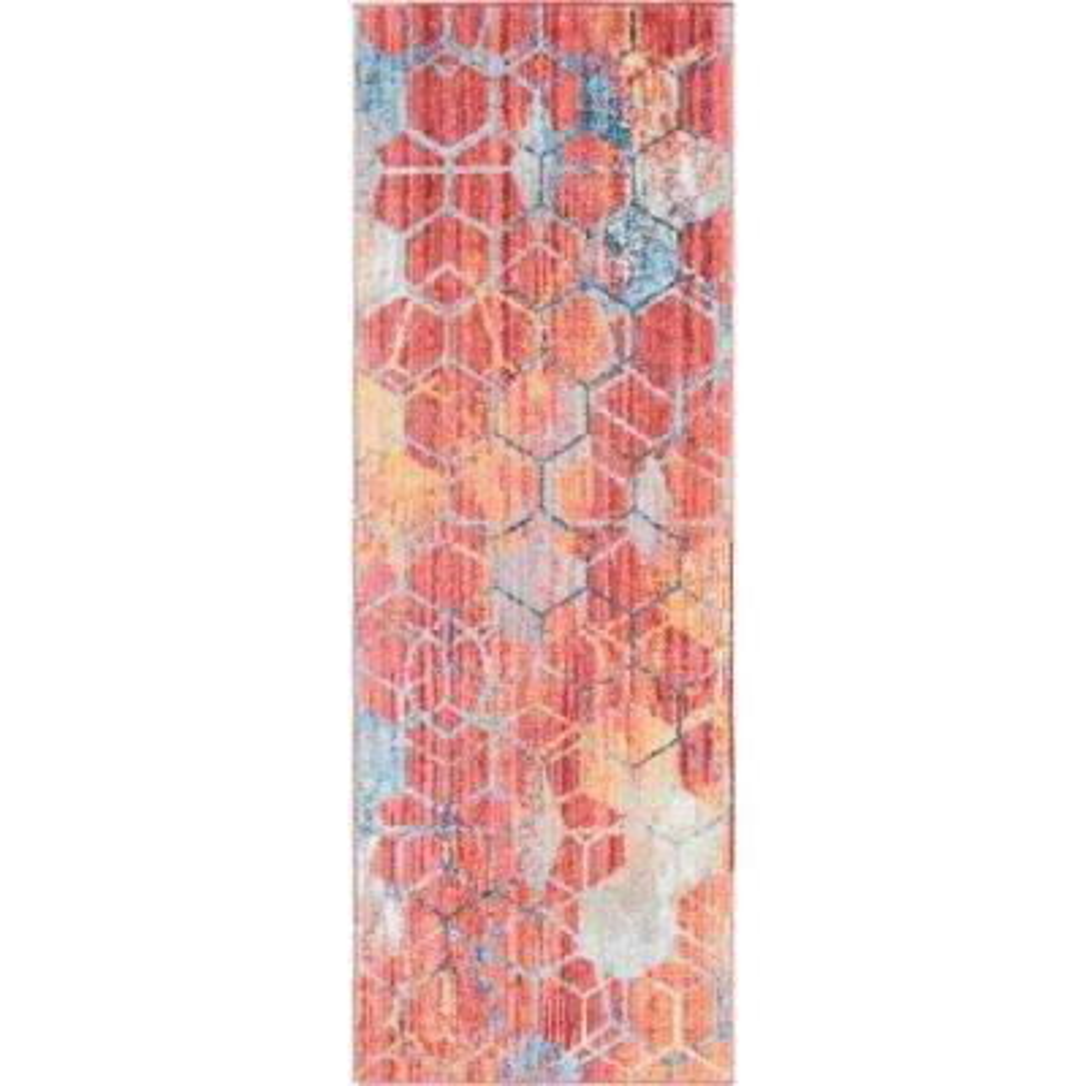 Red 2 ft. x 6 ft. Rainbow Runner Rug