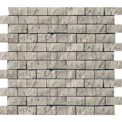 Trav Ancient Tumbled Silver 12 in. x 12 in. x 12 mm Travertine Mesh-Mounted Mosaic Tile (0.98 sq. ft.)