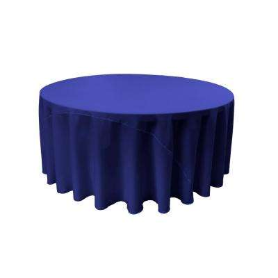 120 in. Round Royal Blue Polyester Poplin Tablecloth