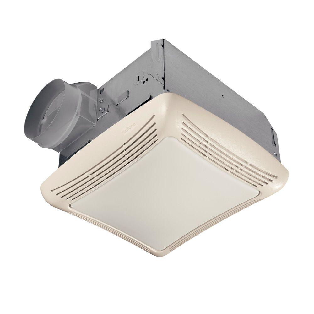 nutone 50 cfm ceiling exhaust bath fan with light-763n - the home