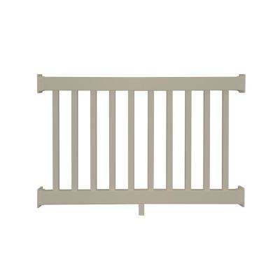 Naples 3 ft. H x  4 ft.  W Khaki Vinyl Railing Kit
