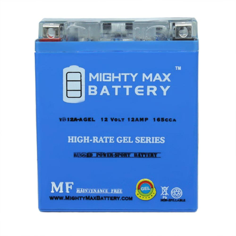 MIGHTY MAX BATTERY 12-Volt 12 Ah 165 CCA GEL Rechargeable Sealed Lead Acid (SLA) Powersport Battery
