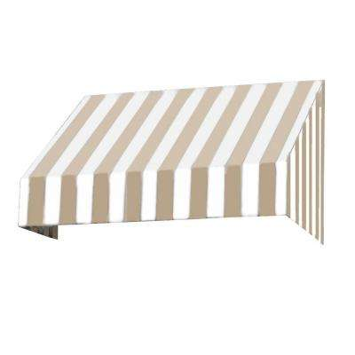 5 ft. New Yorker Window/Door Awning (31 in. H x 24 in. D) in Tan/White Stripe
