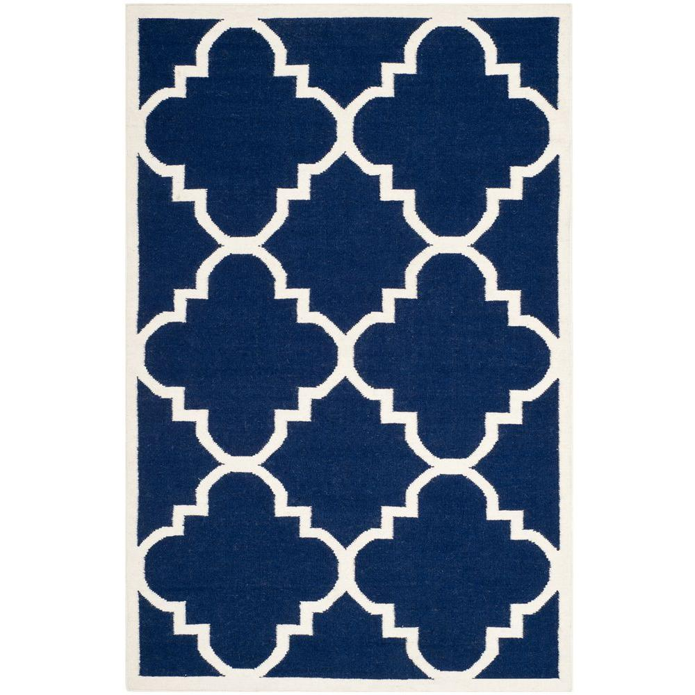 NuLOOM Diamonds Cotton Trellis Navy 8 Ft. X 10 Ft. Area