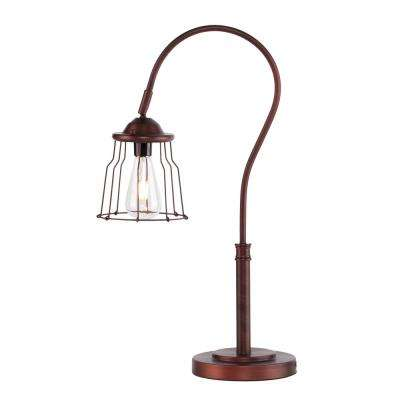 Garreth 25 in. Coppery Brushed Bronze Table Lamp