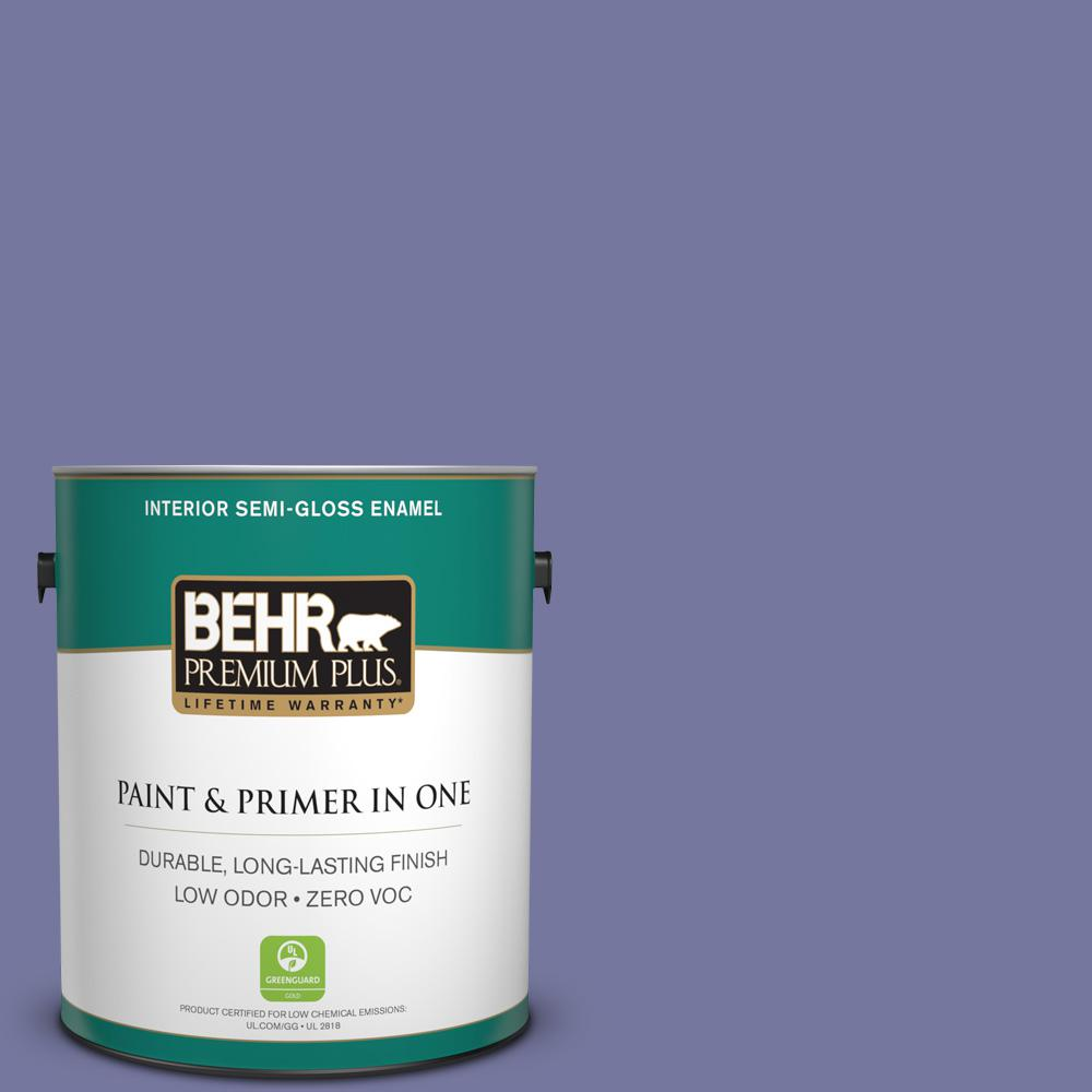 1-gal. #630D-6 Palace Purple Zero VOC Semi-Gloss Enamel Interior Paint