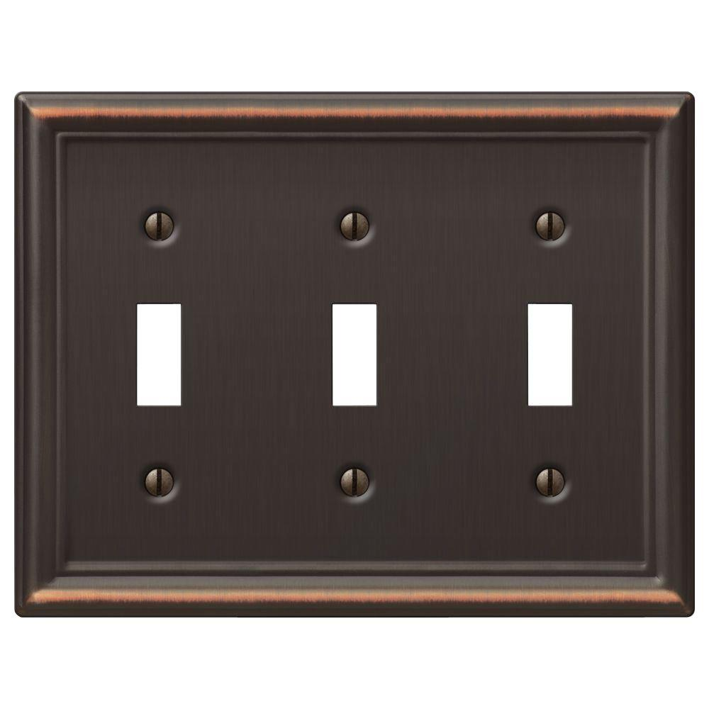 Metal Cover Plates For Electrical Impressive 3  Toggle Switch Plates  Switch Plates  The Home Depot 2018