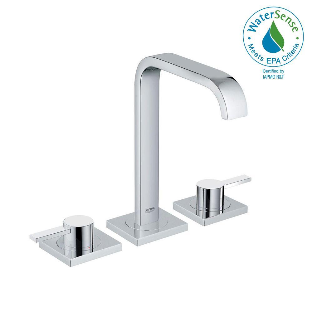 GROHE Allure 8 in. Widespread 2-Handle Bathroom Faucet in StarLight ...