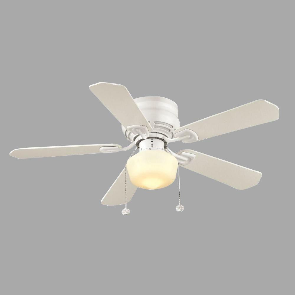 indoor white ceiling fan with light kit