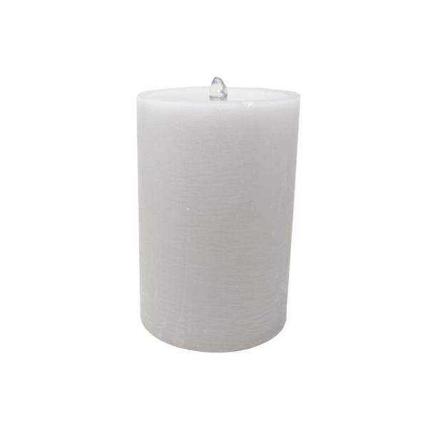 Aromatherapy White Wax Pillar Color-Changing Candle Fountain