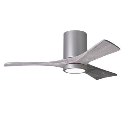 Irene 42 in. LED Indoor/Outdoor Damp Brushed Nickel Ceiling Fan with Light with Remote Control and Wall Control