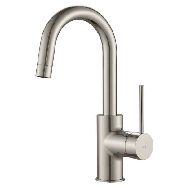 Oletto Single-Handle Kitchen Bar Faucet in Spot-Free Stainless Steel