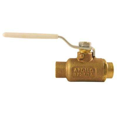 1/2 in. Bronze SWT x SWT Industrial Ball Valve Solder Lead Free