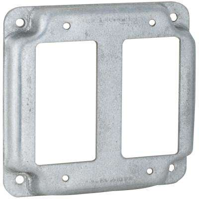 4 in. Square Exposed Work Cover for Two GFCI Device (10-Pack)