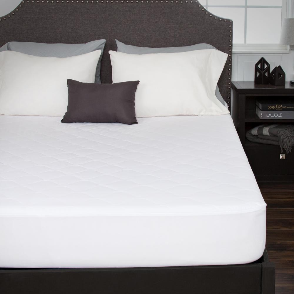 Full 16 in. Down Alternative Cotton Mattress Pad with Fitted Skirt