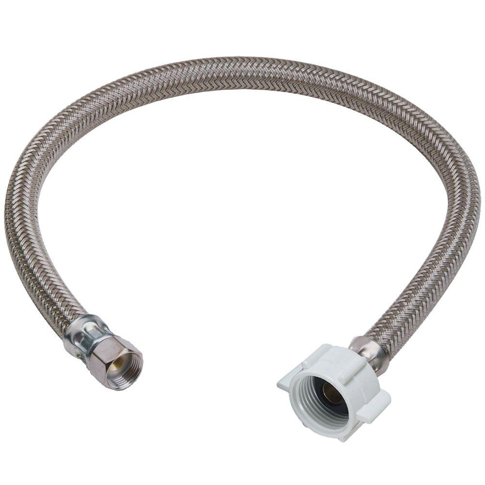 null 3/8 in. Compression x 7/8 in. Ballcock Nut x 20 in. Braided Polymer Toilet Connector