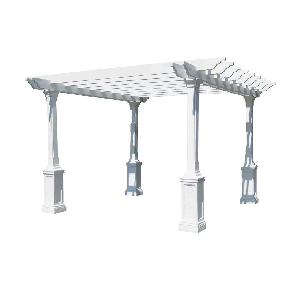 Eye Level Heritage Limestone 14 ft. x 14 ft. Pergola