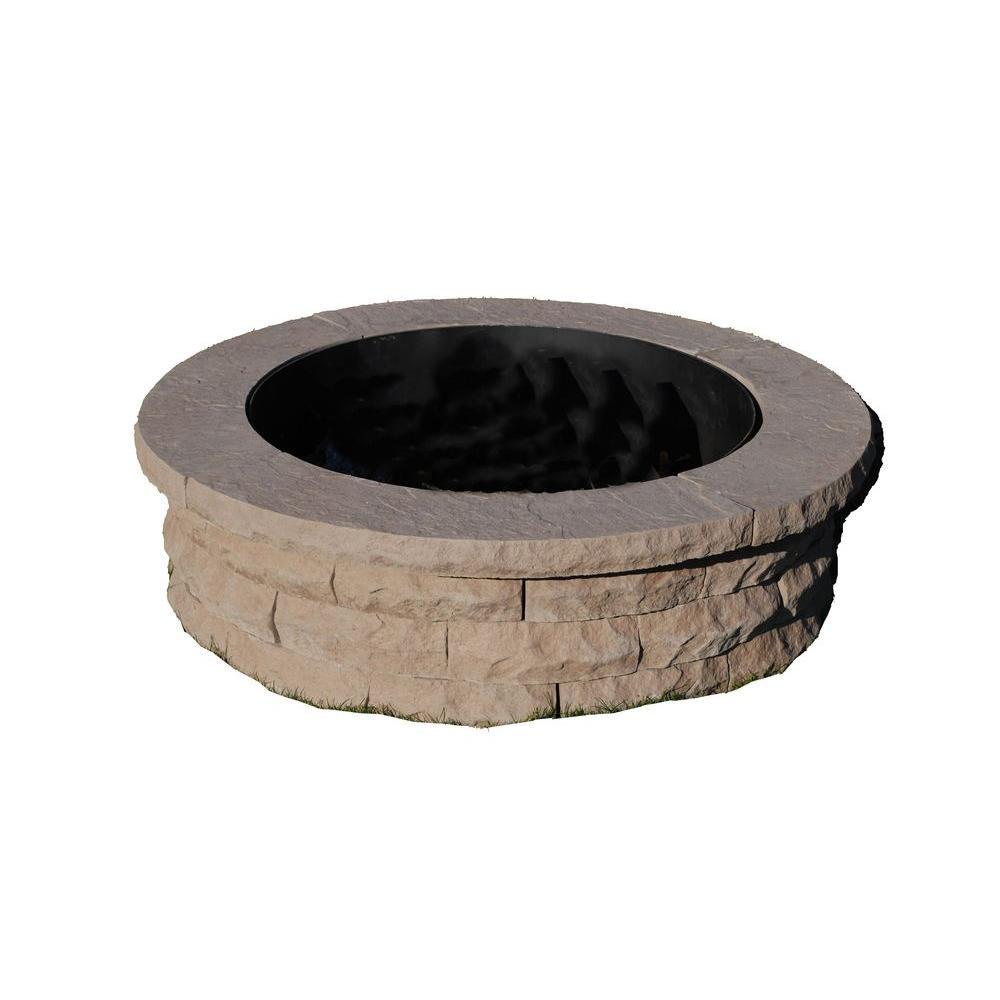 Ledgestone 47 in. Concrete Fire Pit Ring Kit Brown
