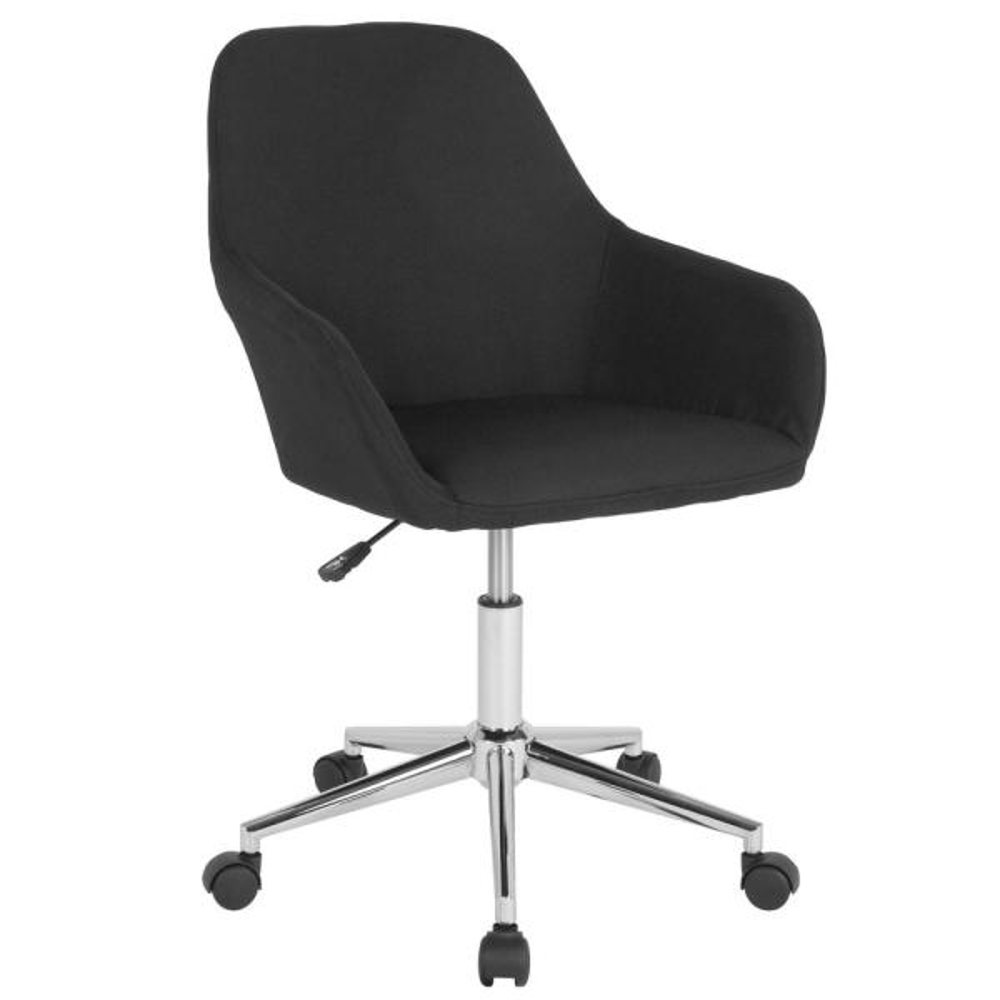 Flash Furniture Black Fabric Office/Desk Chair CGA-DS-231707-BL-HD