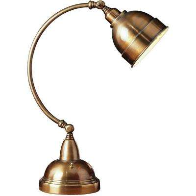 Plato 23 in. Brass Adjustable Desk Lamp