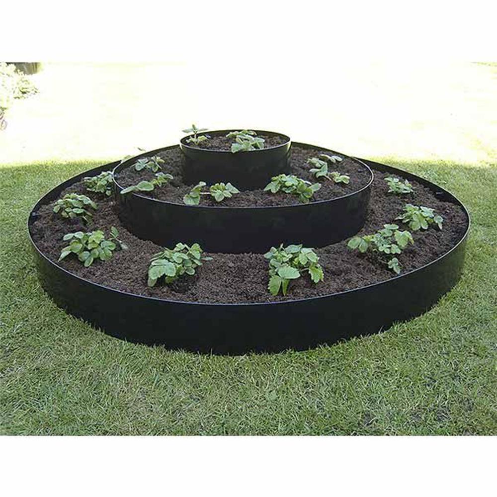 Century Products 12 In Black Polyethylene Eco Raised Garden Bed