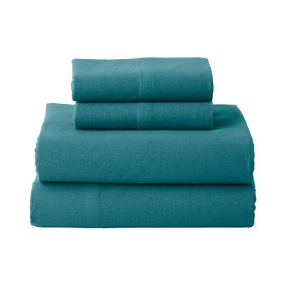 Solid Flannel Sheet Set