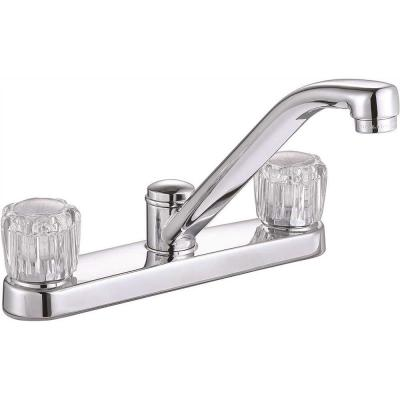 Bayview 2-Handle Standard Kitchen Faucet without Side Sprayer in Chrome