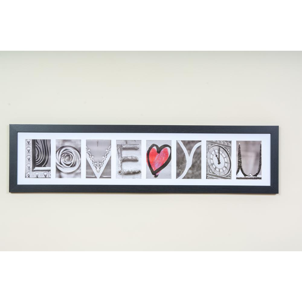 Imagine Letters 8 Opening 4 In X 6 In White Matted Black Photo