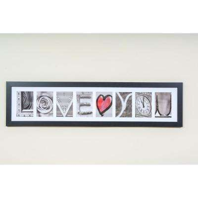 8-Opening 4 in. x 6 in. White Matted Black Photo Collage Frame
