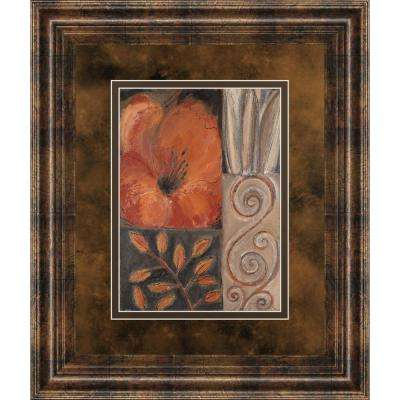 "34 in. x 40 in. ""Orange Burst I"" by Rosie Abraham Framed Printed Wall Art"