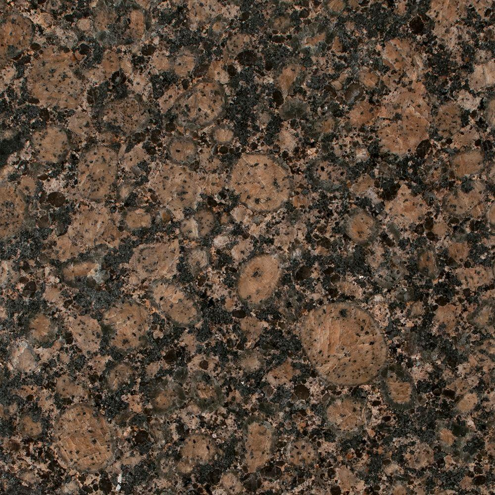 3 in. x 3 in. Granite Countertop Sample in Baltic Brown