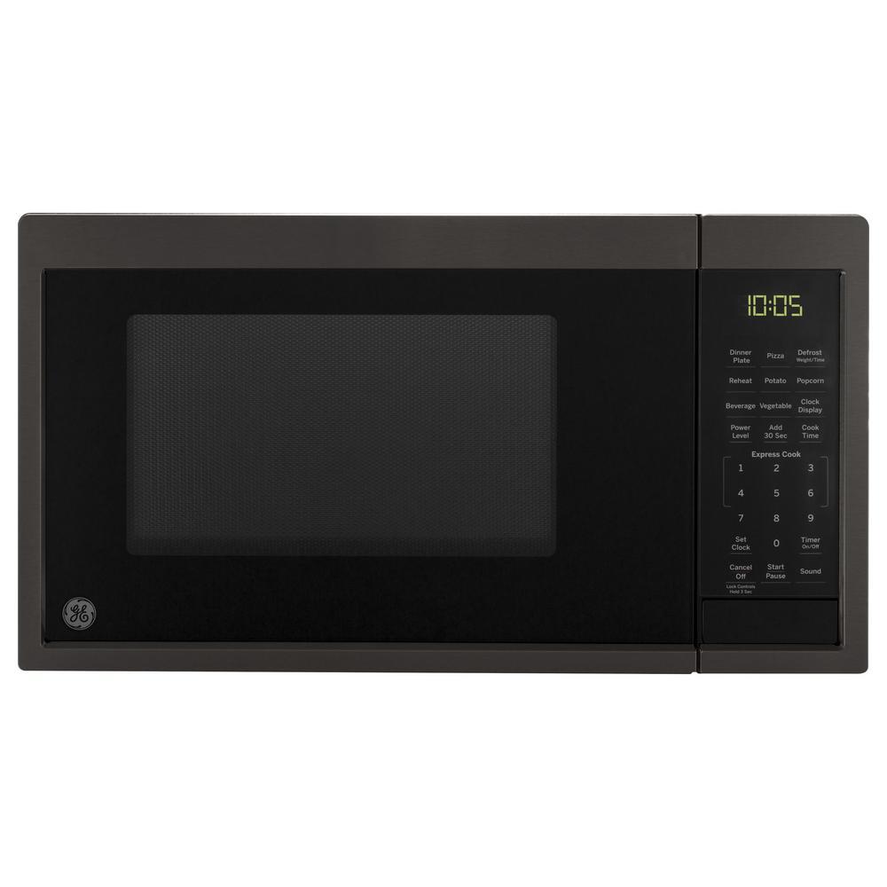 0.9 cu. ft. Countertop Microwave in Black Stainless Steel, Fingerprint Resistant