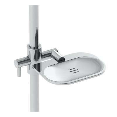 Slide Bar Mounted Soap Dish in Polished Chrome